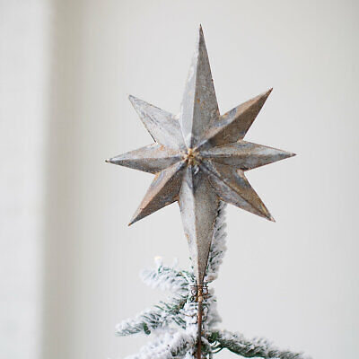 Anthropologie Terrain Small AGED IRON STAR ~Christmas~ TREE TOPPER NEW