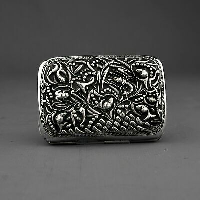 Ornate Antique Chinese Export Silver Cigarette Case