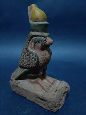 ANCIENT EGYPTIAN ANTIQUES Horus Statue Figurine God Eye Falcon Ancient Sky Ra 15