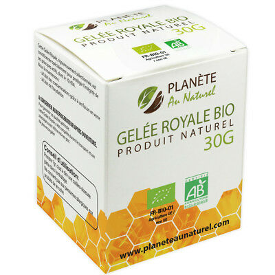 Royal Jelly Bio (FR-BIO-01) certified AB - Planète au Naturel 30g Gelée Royale