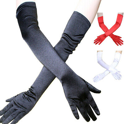 Stretch Satin Gloves Wrist Elbow Opera Extra Long Evening Party Fancy Costum RSA