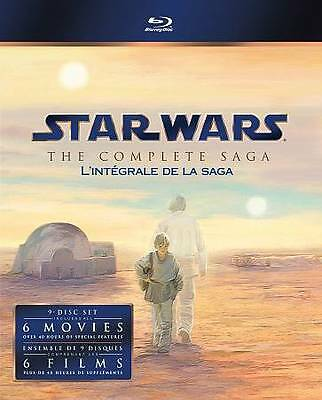 Star Wars: The Complete Saga Digibook (Blu-ray Disc, 2011) 9 Disc Set
