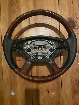 Mercedes S Class W221 Half Wood Half Leather Steering Wheel