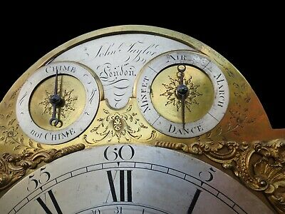 Magnificent George III Longcase Clock. Musical + Qtr Chiming. 12 Bells, 4 Tunes