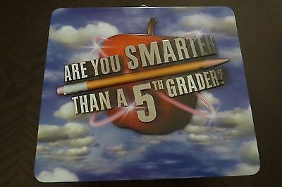 ARE YOU SMARTER THAN A 5TH GRADER GAME IN TIN LUNCHBOX WITH CD Q&A Cards