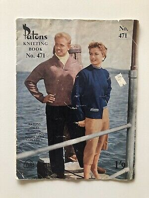 Patons Knitting Book 471 Vintage Knit Patterns Mens Womens