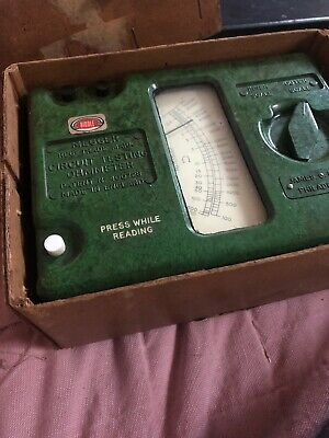 Megger Biddle Instruments Circuit Testing Ohmmeter No 1535062 Works. W Box