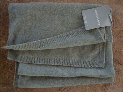 NWT WOMEN HANNAH ROSE SOFT KNIT 100% CASHMERE PASTEL GREEN SCARF 72 in x 11 in