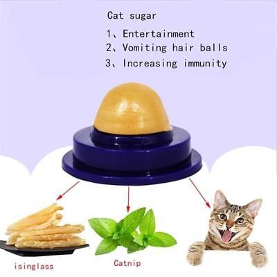 1/2Pcs Cat Snack Catnip Sugar Candy Licking Solid Healthy Energy Ball Pet  Food