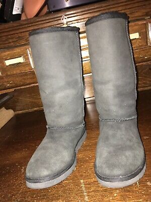 ugg australia Classic Tall Boots Black Suede Size 5 Us Must See Description