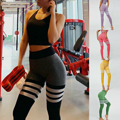 Women Fitness Leggings Pants Trousers Gym Hight Waist Jogging Casual Stretch