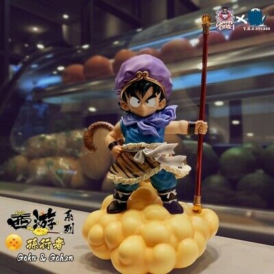 Dragon Ball The Monkey King Goku Two Heads Sculpture Collectible Figure New