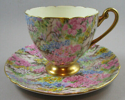 Shelley Rock Garden Ripon Cup and Saucer