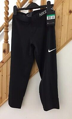 New Girls Nike Pro Black Cropped Legging XL 11/12 Years