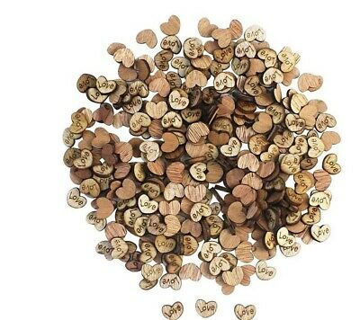 100 pcs Rustic Wooden Love Heart Wedding Table Scatter Decoration Crafts Party