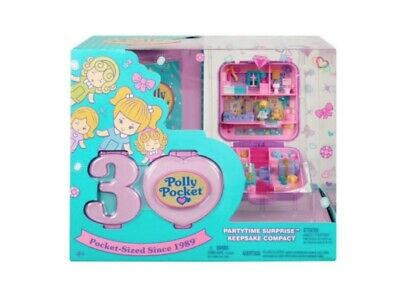 Polly Pocket Partytime Surprise Keepsake Compact - 30th Anniversary - BNISB