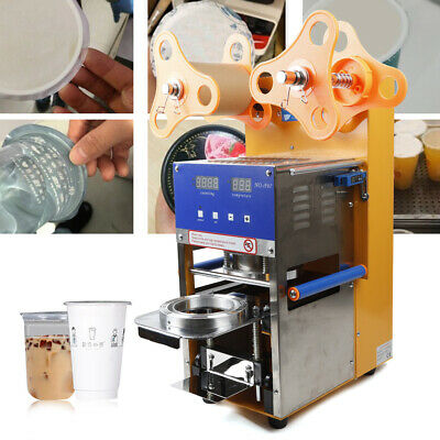 Cup Sealing Machine for Bubble Tea Automatic Plastic Cup Sealer 400-600Cups/hr