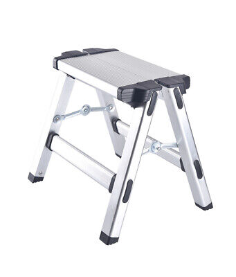 New Aluminium Collapsible Step up Stool Folding Ladder Lightweight Workstand