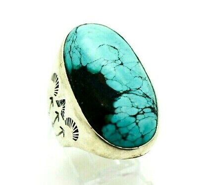 Navajo Turquoise Mens Large Sterling Silver 925 Ring 26g Sz.12 CC006