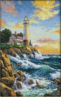 Lighthouse (2) 14CT Counted Cross Stitch Kit. Craft Brand New.
