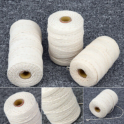 1-3mm Natural Beige Cotton Twisted Cord Rope Craft Macrame Artisan String Gifts