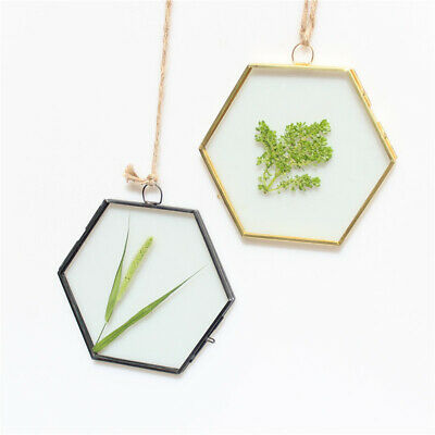 Metal+Glass Double Sided Herbarium Hanging Portrait Photo Picture Frame Vintage