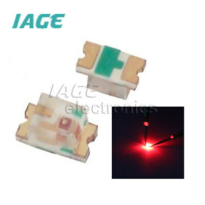 1000Pcs Smd Smt Rote Led Lampe Super Helle 0805 Rot Neue Ic xx