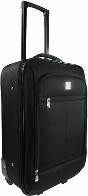 "Carry On Luggage Suitcase 18"" Cabin Bag Small Lightweight Rolling Baggage"