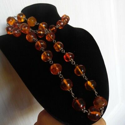 Very beautiful Old Natural Baltic Amber Bernstein beads necklace 66,8g