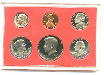 1981-S 6 coin Proof Set in original mint package