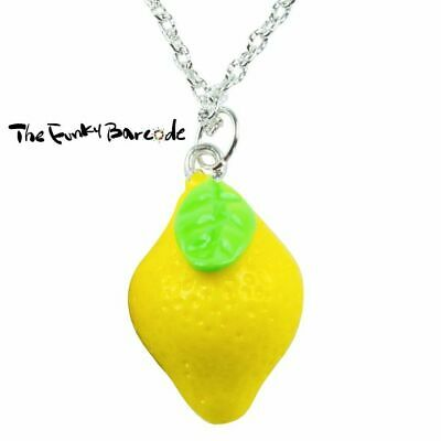 TFB SILVER PINEAPPLE NECKLACE Funky Fruit Tropical Retro Sweet Cool Novelty
