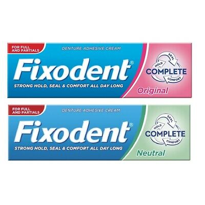 Fixodent Original / Neutral Adhesive Denture Cream 47g Food Seal Strong & Secure