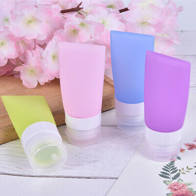 38/60/80ml Travel Refillable Bottles Silicone Squeeze Bottle Tube Containers  ZH