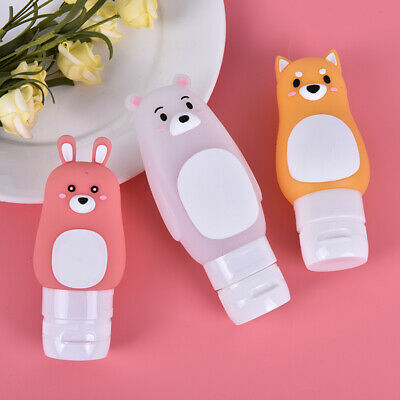 Cute Portable Silicone Travel Organizer Gel Lotion Storage Refillable Bottle ZH