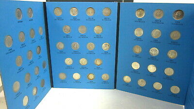 Complete Set Silver Roosevelt Dimes 1946-1964 50 Sterling US Coin Whitman Folder