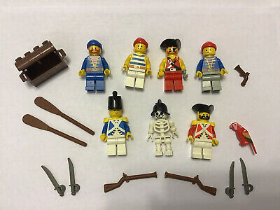 LEGO Pirates Crew Member Shipmate Minifigure Blue Bandanna Blue Stripe Shirt NEW