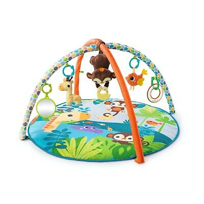 NEW! Bright Starts Monkey Business Musical Activity Gym and Play Mat