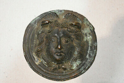 Antique Roman Bronze Roundel Gorgon Medusa 1/3 century - VERY RARE!