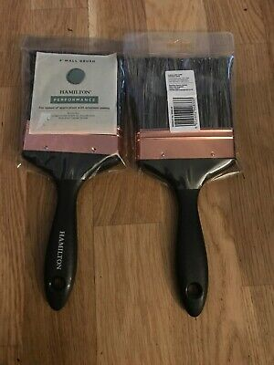 2Hamilton Performance Copper  Paint/Plastering Splash Brush  4 Inch Pure Bristle