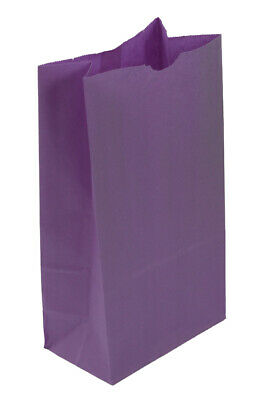 **Closeout Price - Limited Quantity**  Large Purple Paper Lunch Bags 12# SOS