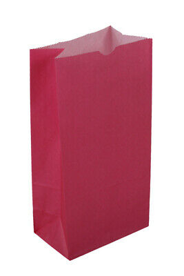 **Closeout Price - Limited Quantity** Large Hot Pink Paper Lunch Bags - 12# SOS