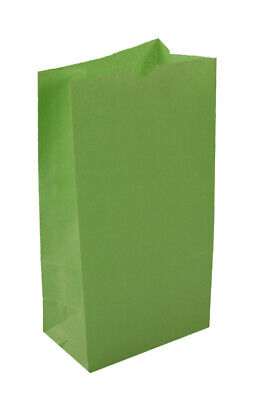 **Closeout Price - Limited Quantity** Large Lime Green Paper Lunch Bags 12# SOS