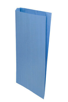 **Closeout Price** 500 Light Blue Gusseted Paper Merchandise Bags 14 x 3 x 21
