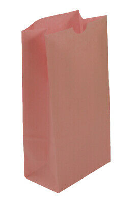 **Closeout Price** 500 Medium Pastel Pink Paper Lunch Bags - 8# SOS