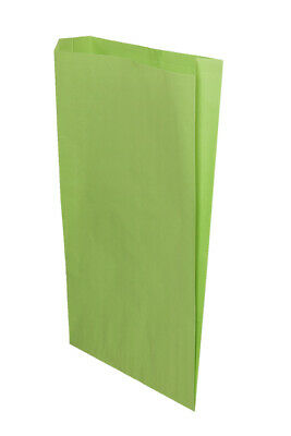 **Closeout Price** Lime Green Flat Paper Merchandise Bags 14 x 3 x 21