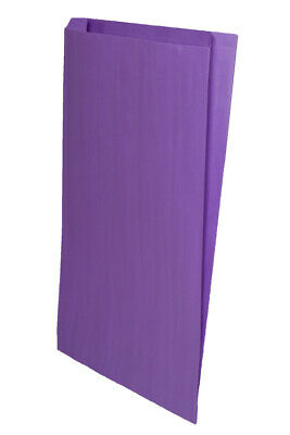 **Closeout Price** 500 Purple Gusseted Paper Merchandise Bags 14 x 3 x 21
