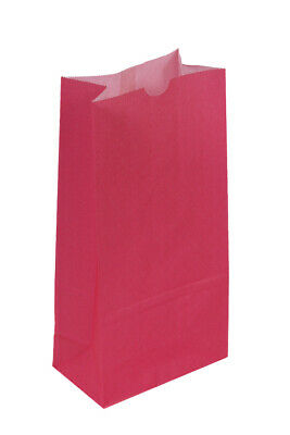 **Closeout Price** 500 Medium Hot Pink Paper Lunch Bags - 8# SOS