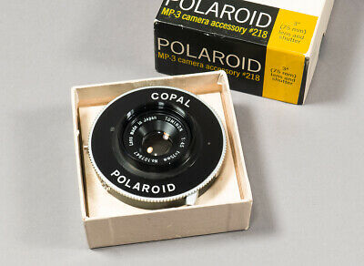 Tominon 75mm f/4.5 Lens in a MP-3 Copal Polaroid Shutter with Iris Aperture