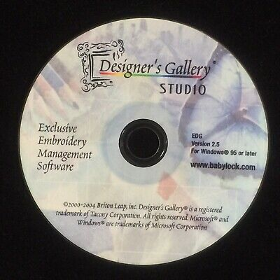Designer Gallery Studio Embroidery Catalog System Software & Color Works Ver 2.5