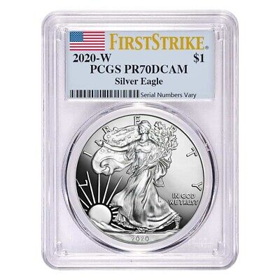 2020-W 1 oz Proof Silver American Eagle PCGS PF 70 DCAM First Strike